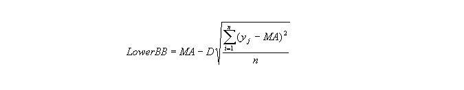 Calculation of Bollinger Bands 3